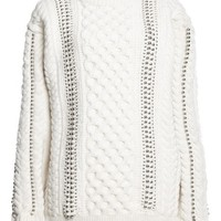 Alexander Wang Felted Cable Knit Pullover Aspen