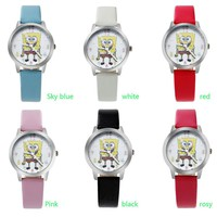 Children's watch with cotton baby girl boy waterproof quartz watch cute cartoon primary school watch manufacturers spot