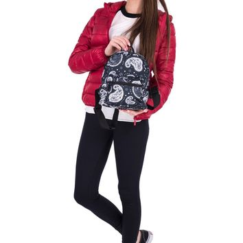 Black Paisley Bandana Mini Backpack