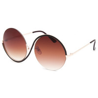 Full Tilt Wild Round Sunglasses Gold One Size For Women 26084062101