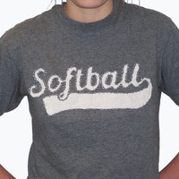 HAND STITCHED Softball Shirt by DeannasCustomDesigns on Etsy
