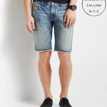 Brooklyn Calling Light Wash Destroyed Shorts