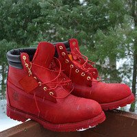 Customized Timberland 6-Inch Premium Waterproof Boots (Red, Green, Blue, & More)