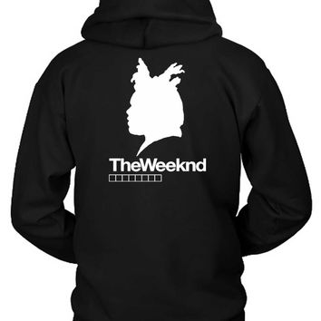 The Weeknd Siluet Three Hoodie Two Sided