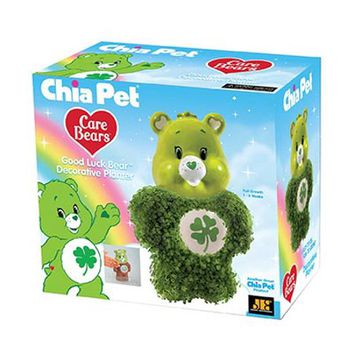 "Chia Pet Care Bear Collection ""Good Luck Bear"" - Decorative Planter - Walmart.com"