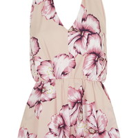 **Halterneck Playsuit by Love - Topshop
