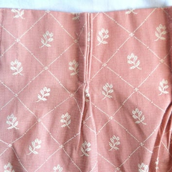 Mid Century Drapes 60s Curtains Pleated Drapes Pink Drapes Floral Drapes Damask Drapery 1960s Curtains Bedroom Drapes Living Room Drapes