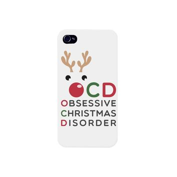 Cute Obsessive Christmas Disorder Rudolph phone case for iphone 4, iphone 5, iphone 5C, iphone 6, iphone 6 plus, Galaxy S4, Galaxy S5, HTC One M8, LG G3