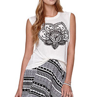Workshop Henna Flower Muscle Tee at PacSun.com