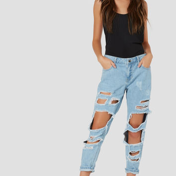 Rough Side Distressed Jeans