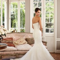 Lace Satin Gown by Sophia Tolli