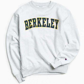 Champion University Of Berkeley Reverse Weave Crew Neck Sweatshirt | Urban Outfitters
