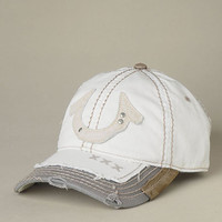 Mens White Horseshoe Baseball Cap - (Off White) | True Religion Brand Jeans