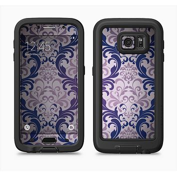 The Royal Purple Laced Wallpaper Full Body Samsung Galaxy S6 LifeProof Fre Case Skin Kit