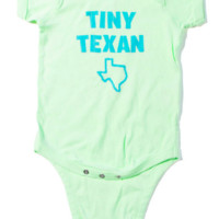 """Tiny Texan"" UNISEX Onesuit- Mint"