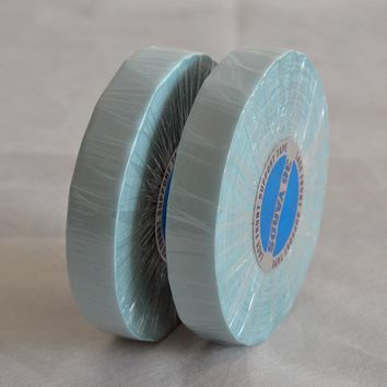 1/2inch*36 Yard Blue Super Tape Hair Extensions Double-Sided Adhesives Tape For Hair Extensions/Toupee/Lace Front Support Tape