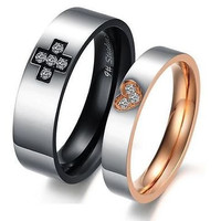 AMAZING HIS AND HER 925 STERLING SILVER ENGAGEMENT AND WEDDING COUPLE BAND
