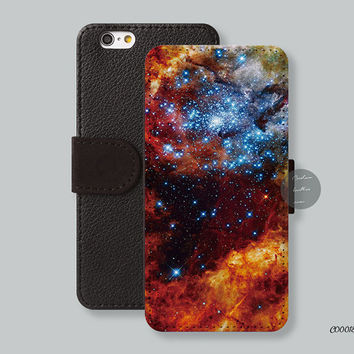 Nebula iPhone 6 case Card slot Wallet iPhone 6 plus case, Leather Wallet iPhone 5s case iPhone 5c case - C00018