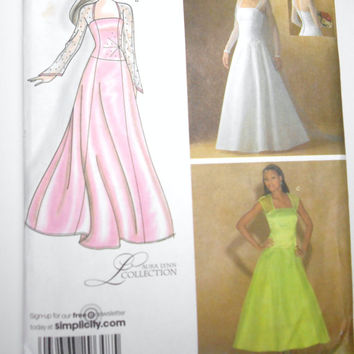 Simplicity 4258, Wedding Dress Pattern, Prom Dress Pattern, Bridesmaid Pattern, Misses' Special Occasion Dress Pattern in 2 Lengths, Uncut