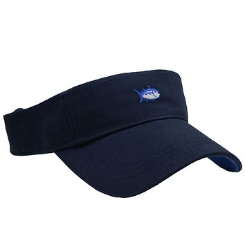Mini Skipjack Visor in Navy by Southern Tide