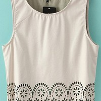 Cutout Cropped PU Tank