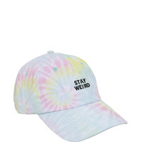 Stay Weird Pastel Tie-Dye Dad Cap