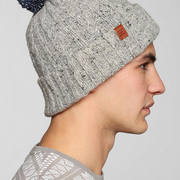 Bickley + Mitchell Cable-Knit Pom Beanie - Urban Outfitters