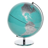 World Globe - Aquamarine | Travel | Accessories | Z Gallerie