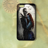 Sally and Jack Case-iPhone 5, 4s, iphone 4 case, ipod 5, Samsung GS3-Silicone Rubber or Hard Plastic Case, Phone cover