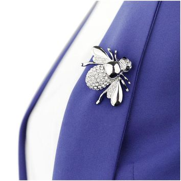 SHUANGR 2017 Hot Selling Cute Animal Bee Brooch For Women Europe And America Fashion Crystal Brooch Pins Jewelry