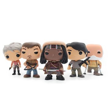 Chanycore Funko pop The Walking Dead Michonne Daryl Dixon Hershel Greene Carol Peletier PVC Movie Vinyl Action Figure Gifts Toys