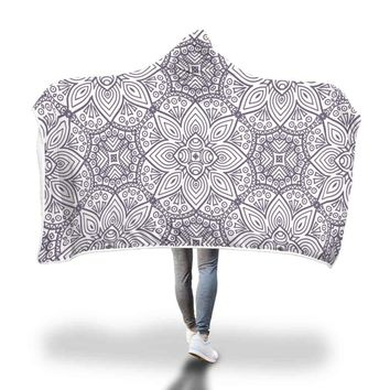 Mosaic Pattern Hooded Blanket by Bare Culture Apparel