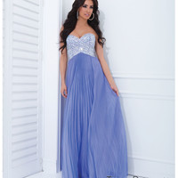 (PRE-ORDER) Tony Bowls 2014 Prom Dresses - Lilac Chiffon & Beaded Strapless Prom Dress