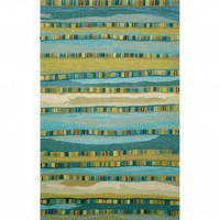 Trans Ocean Seville Mosaic Stripe Blue Contemporary Rug - 9625/03 - Striped Rugs - Area Rugs by Style - Area Rugs