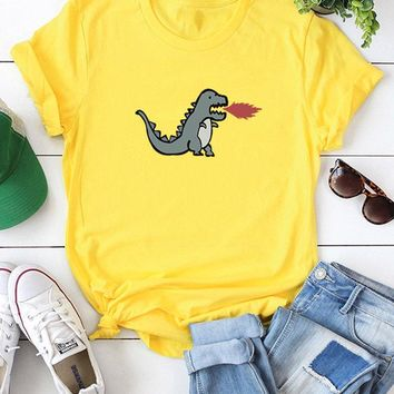 Cute Dinosaur Short Sleeve T-shirts