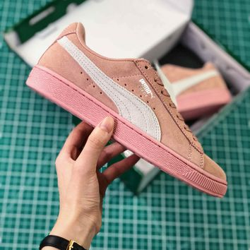 Puma Basket Classic Pink White Sneakers - Sale