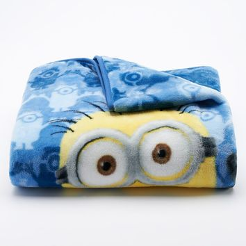 Despicable Me Minions Silk Touch Throw (Blue)