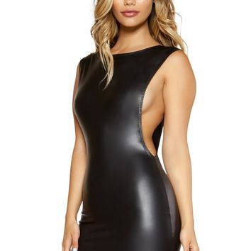 Mini Dress with Open Cutout Side