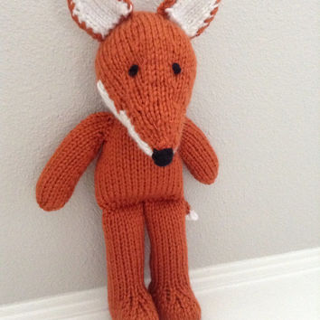 Knitted Fox - Stuffed Animal - Soft Toy - Fox Soft Toy - Stuffed Toy