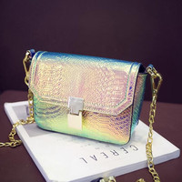 Women Shoulder Bag Satchel Tote Boho Clutch Messenger Bags Hologram Holographic Gift