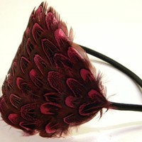 Felicity Pink Feather Headband by LaPlumeEthere on Etsy