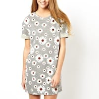 ASOS Sweat Dress With Daisy Print
