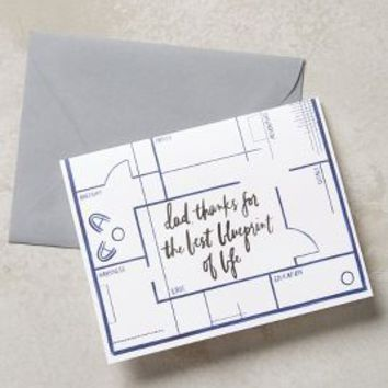 Life's Blueprint Card by Anthropologie in Navy Size: One Size Books