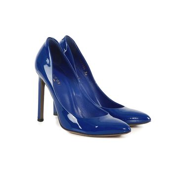 Gucci Bright Blue Pumps