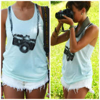 Camera Ready Mint Graphic Tank
