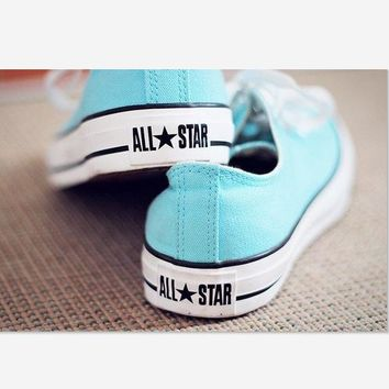 Converse Fashion Canvas Flats Sneakers Sport Shoes light blue
