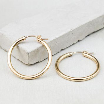 Hoop Earrings - Gold Filled