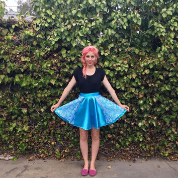 Elsa inspired Disneybounding circle skirt