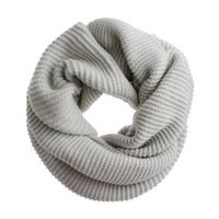 Cashmere purl-stitch snood