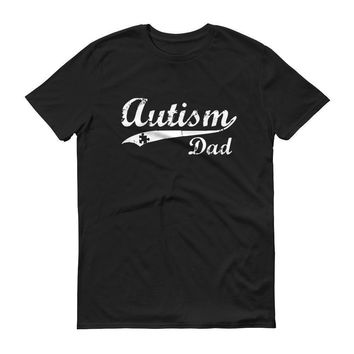 Men's Autism Dad Autism Awareness T-shirt